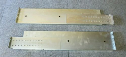 Left & Right 3U Adjustable L-shaped Rack Mount Server Mounting Rail Kit